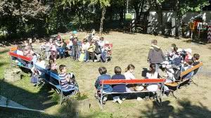Ismerkedés a gyermekvasutas tábor területén