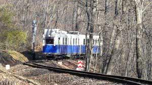 Nosztalgia motorvonat Szépjuhászné állomás előtt