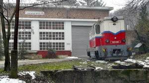 Az Mk45,2005 psz. mozdony a hűvösvölgyi fűtőháznál