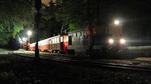 Éjszakai személyvonat Csillebérc állomáson