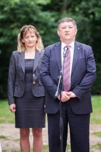 Dr. Mosóczi László helyettes államtitkár és Dávid Ilona elnök-vezérigazgató