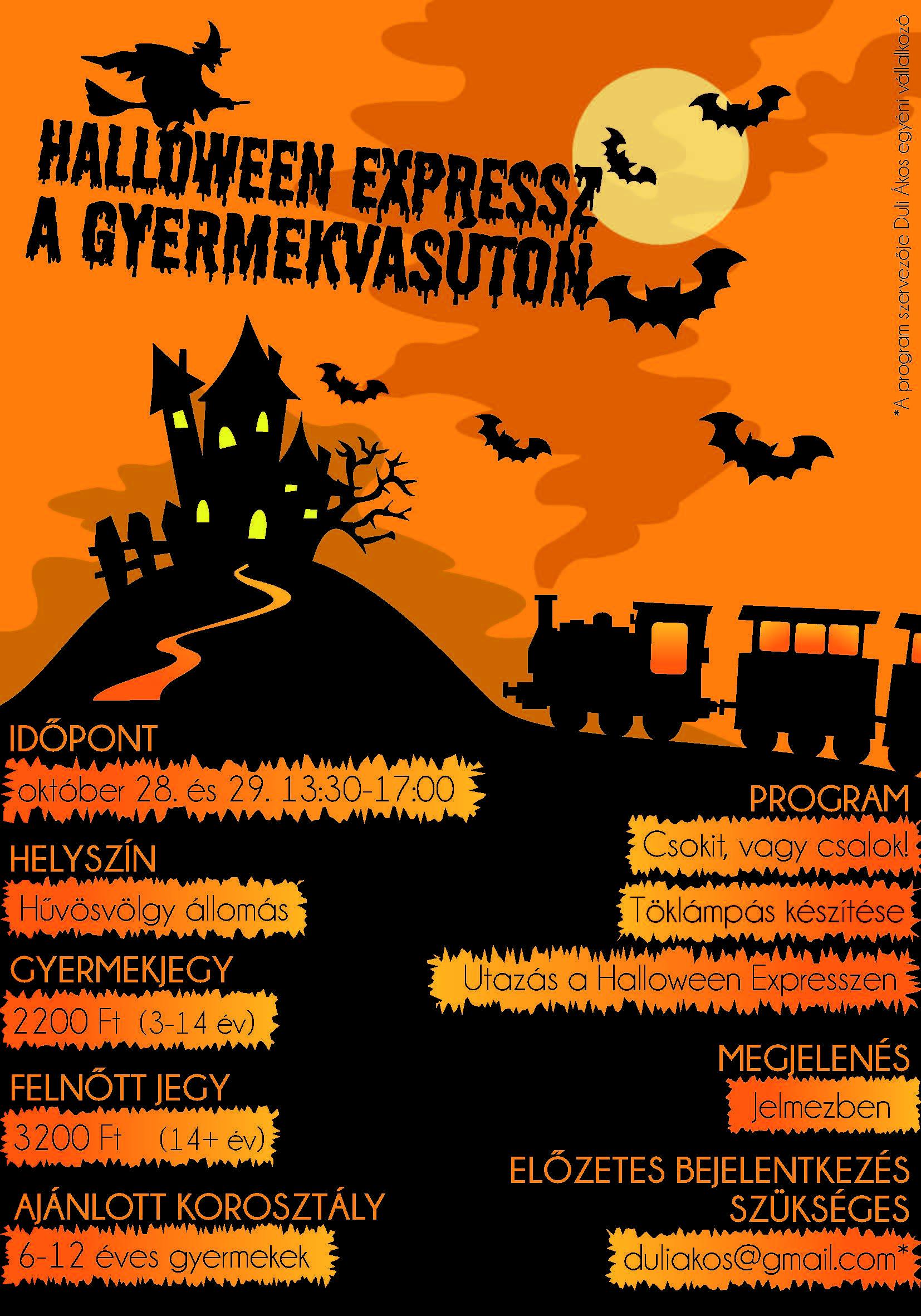 Halloween Expressz a Gyermekvasúton - MEGTELT